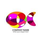 abstrakcjonistyczny rybi logo Obrazy Royalty Free