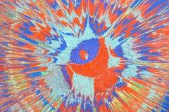 Abstrakcjonistyczny rysunek z akrylowymi farbami, tło Fotografia Royalty Free