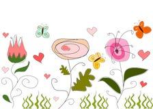abstrakcjonistyczny rysunkowy kwiecisty Obraz Royalty Free