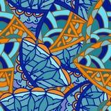 Abstrakcjonistyczny rysunkowy tło geometryczni wzory Zdjęcia Stock