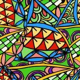 Abstrakcjonistyczny rysunkowy tło geometryczny wzór Obraz Stock