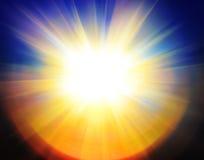 Abstrakcjonistyczny słońca tło Obraz Royalty Free