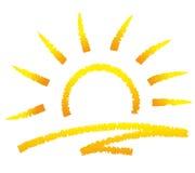 Abstrakcjonistyczny słońce Obrazy Stock