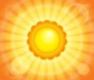 Abstrakcjonistyczny słońce tematu wizerunek 6 Obraz Stock