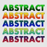 Abstrakcjonistyczny słowo gradient tła ikony ciągnikowej sieci kołowy biel royalty ilustracja
