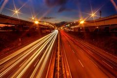Abstrakcjonistyczny samochód w tunelowym trajecto Obrazy Royalty Free