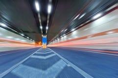 Abstrakcjonistyczny samochód w tunelu Zdjęcia Royalty Free