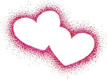 abstrakcjonistyczny serc ilustraci wektor Zdjęcia Royalty Free