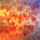 Abstrakcjonistyczny serca tło Zdjęcie Stock