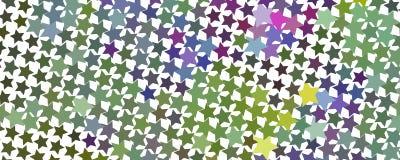 Abstrakcjonistyczny serca tło z geometrycznym motywem Zdjęcia Stock