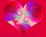 abstrakcjonistyczny serce Fotografia Royalty Free