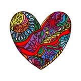 Abstrakcjonistyczny serce doodles Obraz Royalty Free