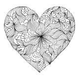 Abstrakcjonistyczny serce na białym tle royalty ilustracja