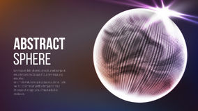 Abstrakcjonistyczny sfera kształt Abstrakcjonistyczny poligonalny astronautyczny tło tło abstrakcyjna technologii 3d planety poję Zdjęcia Stock
