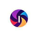 Abstrakcjonistyczny sfera okręgu znak piszę list logo ikony wektorowego projekt Obrazy Stock