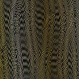 Abstrakcjonistyczny siatki tło z falistymi złotymi liniami waveform Dynamiczny wzór linie paskuje aktualnego przepływ rozsądne fa ilustracja wektor