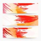 Abstrakcjonistyczny sieć chodnikowiec lub sztandaru set Zdjęcia Royalty Free