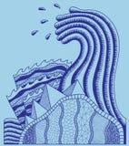 Abstrakcjonistyczny skład: duży fala ilustracja wektor