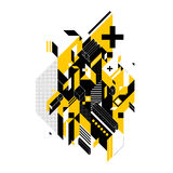 Abstrakcjonistyczny skład geometryczni kształty ilustracja wektor