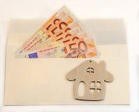 Abstrakcjonistyczny skład - mnóstwo pieniądze w kopercie Fotografia Stock