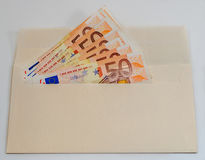 Abstrakcjonistyczny skład - mnóstwo pieniądze w kopercie Obraz Royalty Free