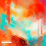 Abstrakcjonistyczny skład sześciokąty geometryczni kształty. Zdjęcie Stock