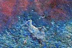 Abstrakcjonistyczny skład z kruszcową teksturą z rdzą dla tło Zdjęcia Stock