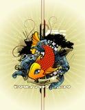 abstrakcjonistyczny skład ryba wektor Fotografia Royalty Free
