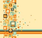 Abstrakcjonistyczny skład sieci ikony ilustracja wektor