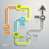 Abstrakcjonistyczny spływowej mapy infographics