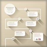 Abstrakcjonistyczny spływowej mapy infographics ilustracji