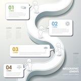 Abstrakcjonistyczny spływowej mapy infographics Obrazy Royalty Free