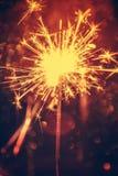 Abstrakcjonistyczny sparkler bokeh tło Zdjęcie Royalty Free