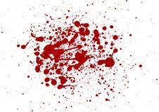 Abstrakcjonistyczny splatter czerwonego koloru tło ilustracja ve Fotografia Stock