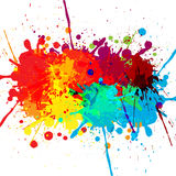 Abstrakcjonistyczny splatter koloru projekta tło ilustracyjny d Obrazy Royalty Free
