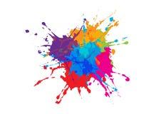 Abstrakcjonistyczny splatter koloru projekta tło ilustracyjny wektorowy d Obraz Stock
