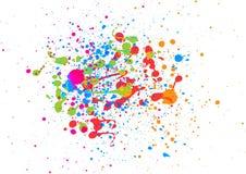 Abstrakcjonistyczny splatter koloru tło abstrakcjonistyczna tła projekta ilustraci mozaika Obraz Stock