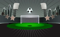 abstrakcjonistyczny stadium piłkarski Obraz Stock