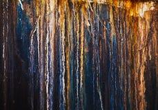 Abstrakcjonistyczny stary ośniedziały metalu tło Zdjęcia Royalty Free