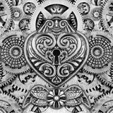 Abstrakcjonistyczny Steampunk montaż ilustracji