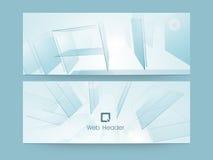 Abstrakcjonistyczny strona internetowa chodnikowiec lub sztandaru set Zdjęcie Royalty Free