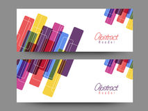 Abstrakcjonistyczny strona internetowa chodnikowiec lub sztandaru set Fotografia Stock