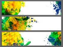 Abstrakcjonistyczny strona internetowa chodnikowiec lub sztandaru set Fotografia Royalty Free