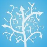 Abstrakcjonistyczny strzałkowaty drzewo Obrazy Stock