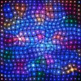 Abstrakcjonistyczny stubarwny tło z światłami Zdjęcia Stock