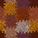 Abstrakcjonistyczny sukienny tło z grunge paskującymi i machającymi kwadratowymi elementami Fotografia Stock