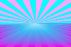 Abstrakcjonistyczny sunburst wzór, gradientowi barwioni promienie z centrum, błękitni i różowi zaświecamy Wektorowa ilustracja, E ilustracji
