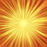 Abstrakcjonistyczny Sunburst z Promieniowymi Jaskrawymi promieniami ilustracja wektor