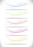 Abstrakcjonistyczny swoosh wykłada namecards inkasowych dla autobusu Zdjęcie Royalty Free