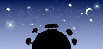 Abstrakcjonistyczny sylwetki drzewo również zwrócić corel ilustracji wektora Zdjęcie Royalty Free